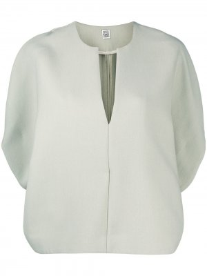 Блузка с эффектом кейпа Totême. Цвет: зеленый