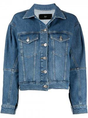Джинсовая куртка свободного кроя 3x1. Цвет: синий
