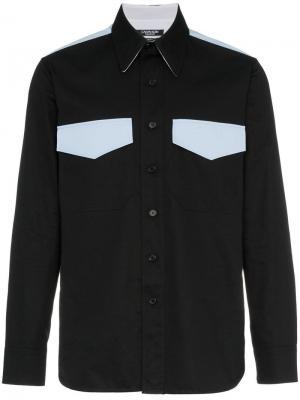 Рубашка с ковбойском стиле двумя карманами Calvin Klein 205W39nyc. Цвет: черный