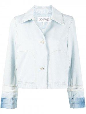 Укороченная джинсовая куртка с контрастными манжетами LOEWE. Цвет: синий