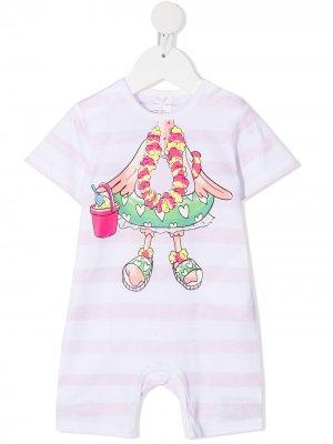 Ромпер Flamingo с эффектом тромплей Stella McCartney Kids. Цвет: розовый