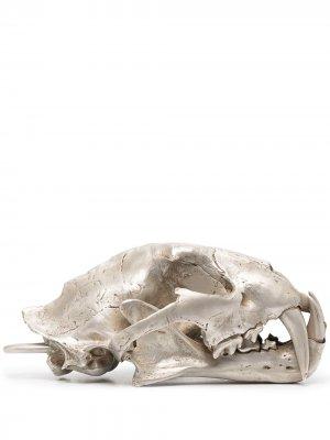 Декоративная фигурка в форме черепа леопарда Parts of Four. Цвет: серебристый