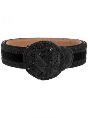 Ремень с плетением Moschino Vintage. Цвет: черный