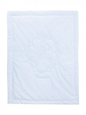 Одеяло с вышивкой Monnalisa. Цвет: синий