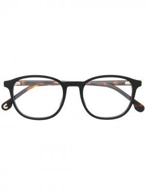 Очки в оправе черепаховой расцветки Carrera. Цвет: коричневый