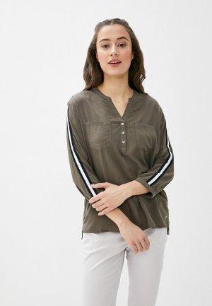 Блуза Luhta. Цвет: хаки