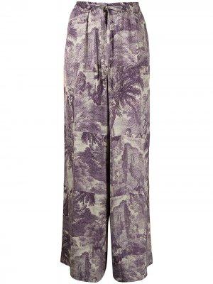 Прямые брюки свободного кроя Pierre-Louis Mascia. Цвет: фиолетовый