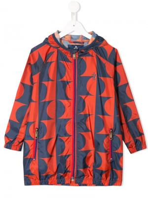 Patterned hooded coat Bobo Choses. Цвет: красный