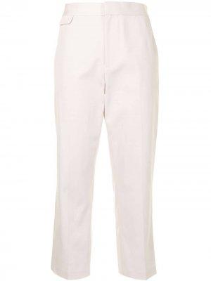 Укороченные брюки Noemi Equipment. Цвет: белый