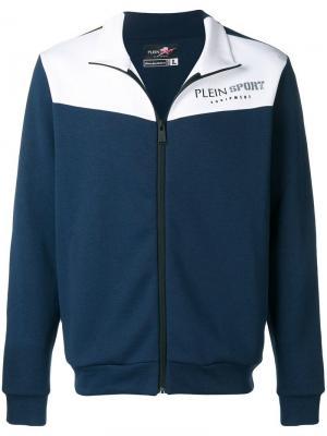 Двухцветный спортивный костюм Plein Sport. Цвет: синий