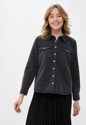 Рубашка джинсовая b.young. Цвет: серый