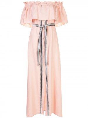 Пляжное платье Koki lemlem. Цвет: розовый