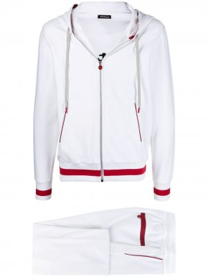 Спортивный костюм с худи Kiton. Цвет: белый