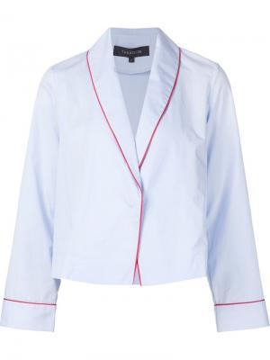 Пиджак с воротником-шалькой Thakoon Addition. Цвет: синий