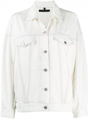 Джинсовая куртка J Brand. Цвет: белый