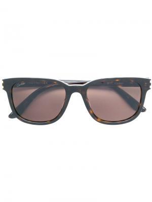 C Décor sunglasses Cartier. Цвет: коричневый