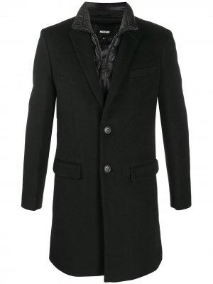 Многослойное однобортное пальто Skair Mackage. Цвет: черный
