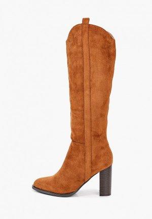 Сапоги Ideal Shoes. Цвет: коричневый