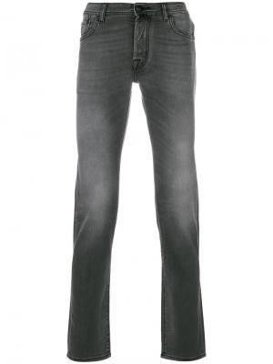Джинсы пятикарманной модели Jacob Cohen. Цвет: серый