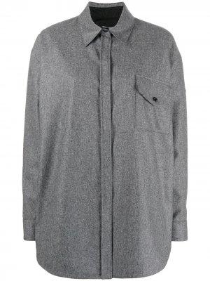 Рубашка с классическим воротником Moncler. Цвет: серый