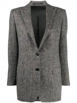 Пиджак строгого кроя Bertha Tagliatore. Цвет: серый
