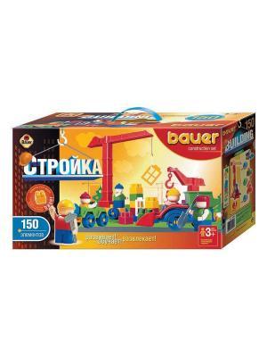Конструктор Bauer серии Стройка 150 эл. (в коробке) 12/12. Цвет: оранжевый