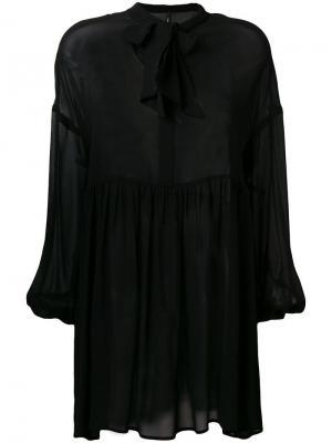 Pussybow shift dress Pierantoniogaspari. Цвет: черный