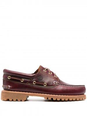 Туфли 3-Eye Classic на рифленой подошве Timberland. Цвет: красный