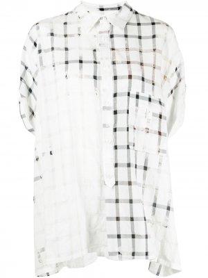 Ys рубашка оверсайз в клетку Y's. Цвет: белый