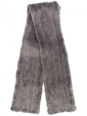 Long fur scarf Liska. Цвет: серый