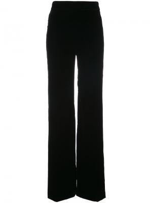Бархатные брюки палаццо Marchesa. Цвет: черный