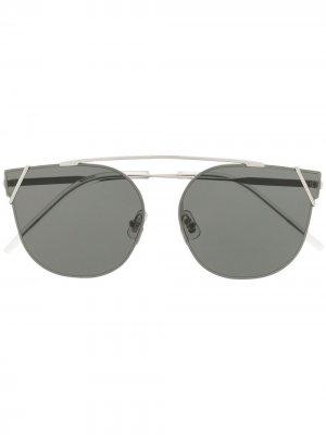 Солнцезащитные очки Ringa 02 в круглой оправе Gentle Monster. Цвет: серебристый