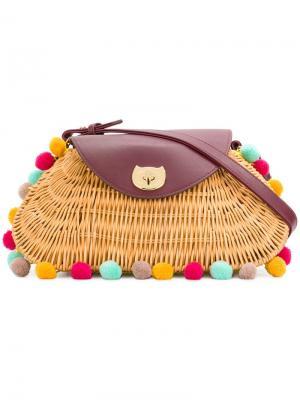 Сумка-мешок с застежкой Tsumori Chisato. Цвет: коричневый