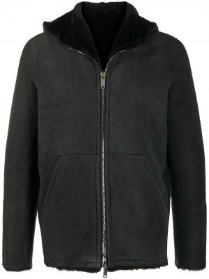 Куртка с капюшоном и подкладкой Tagliatore. Цвет: черный