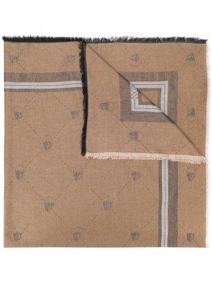 Платок с принтом Skull Philipp Plein. Цвет: нейтральные цвета