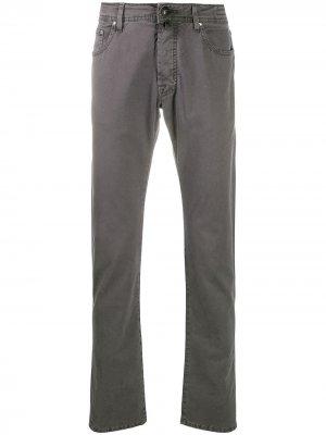 Узкие брюки чинос Jacob Cohen. Цвет: серый