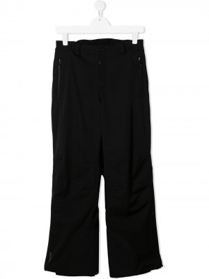 Прямые брюки с карманами на молнии MONCLER GRENOBLE KIDS. Цвет: черный