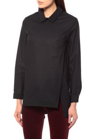 Блуза BRIAN DALES. Цвет: темно-синий