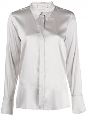 Однотонная рубашка Dorothee Schumacher. Цвет: серый