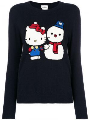 Cashmere snowman Hello Kitty sweater Chinti & Parker. Цвет: синий