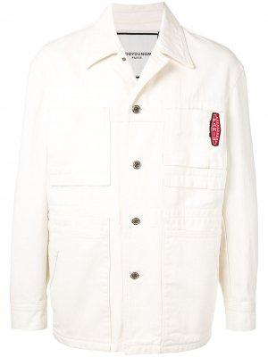 Джинсовая куртка с нашивкой-логотипом Wooyoungmi. Цвет: белый
