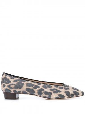 Балетки Simone с леопардовым принтом Loeffler Randall. Цвет: коричневый