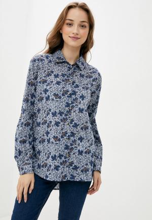 Рубашка Marks & Spencer. Цвет: синий