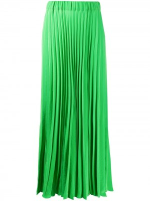 Плиссированная юбка макси с завышенной талией P.A.R.O.S.H.. Цвет: зеленый
