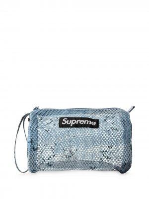 Несессер с логотипом Supreme. Цвет: голубой camo