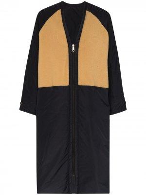 Двустороннее пальто на молнии KASSL Editions. Цвет: синий
