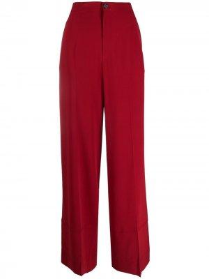 Широкие брюки с завышенной талией colville. Цвет: красный
