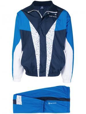Спортивный костюм дизайна колор-блок Sergio Tacchini. Цвет: синий
