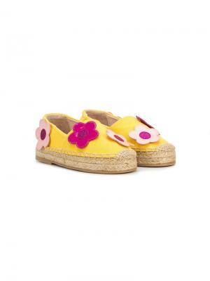 Эспадрильи с аппликациями в форме цветов Minna Parikka Kids. Цвет: желтый