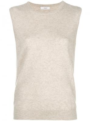 Sleeveless fitted sweater Pringle Of Scotland. Цвет: нейтральные цвета